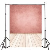 5x7FT Pink Wall Wooden Floor Photo Studio Photography Backdrop Background