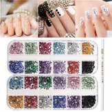 Multicolored Nail Art Decoration Rhinestone Waxed Picker Pencil Case Set Manicure Accessories