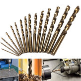 15pcs 1.5-10mm HSS M35 Cobalt Twist Drill Bit