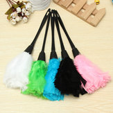 Cleaning Brush Turkey Feather Duster Plastic Handle Office Home Sofa Cleaner