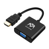 MantisTek® HD3 1080P HDMI To VGA Adapter Video Audio Converter Cable for PS3 HDTV PC
