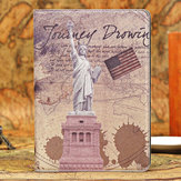 Retro Statue of Liberty Smart Stand PU Leather Case For iPad Air