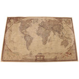 71*46.5cm Brown Paper Antique World Map Wall Chart Poster
