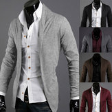 Fashion Solid Long-sleeved Men'sCardigan Sweaters 4 Colors