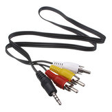 3.5mm Jack Plug to 3 RCA Adapter Cable Audio Video Cable