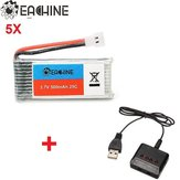 5x Eachine 3.7v 500mah Lipo Battery with 4 In 1 X4 Battery Charger for H107L H107C H107D