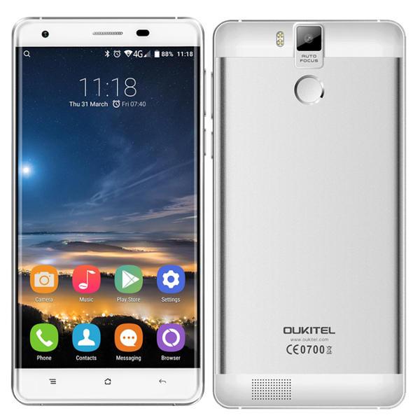 banggood K6000 Pro MTK6753 1.3GHz 8コア WHITE(ホワイト)
