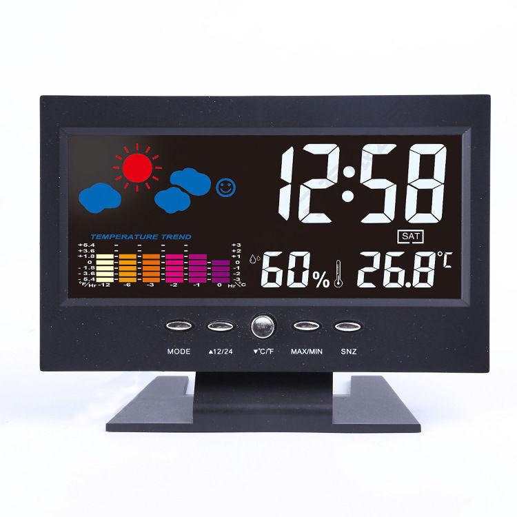 Color LCD Screen Calendar Digital Clock