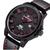 NAVIIFORCE 9061 패션 밀리터리 쿼츠 남성용 시계 가죽 스트랩 스포츠 손목 시계