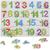 손잡이 나무 숫자 그림인지 퍼즐 키즈 교육 발달 디지털 파악 퍼즐 장난감