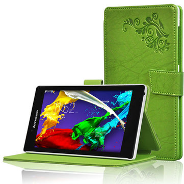 Folding Stand PU Leather Case Cover For Lenovo Tab2 A7-30TC
