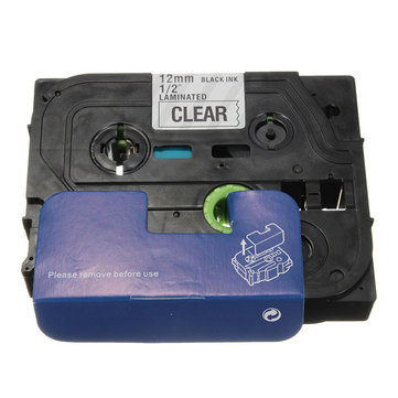 Black On Clear Label Tape For Brother P-touch Laber Maker 12mm TZ-131