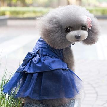 Summer Dog Dress Puppy Hot Drilling Wedding Dress Lace Doggy Skirt