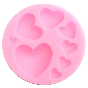 Love Shape Cake Decoration : Beautiful Silicone Heart Love Shape Fondant Mold Mould 3D ...
