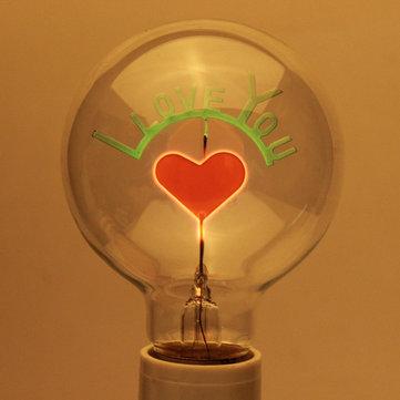 e27 3w edison bulbs i love you shaped decorative light bulb 220v - Decorative Light Bulbs