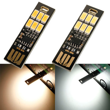 1W 50LM Mini Touch Switch USB Mobile Power Camping LED Light Lamp