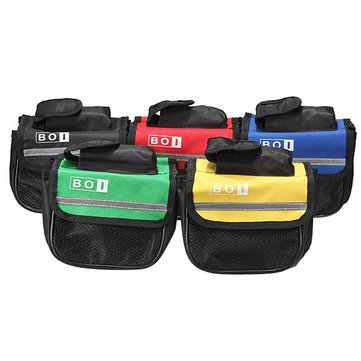 Bike Bicycle Frame Pannier Front Tube Bag Double Sides Pouch Case