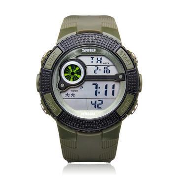SKMEI 1027 Semana de luz de fondo deportiva Fecha Hombres Mujer Reloj de pulsera de cuarzo