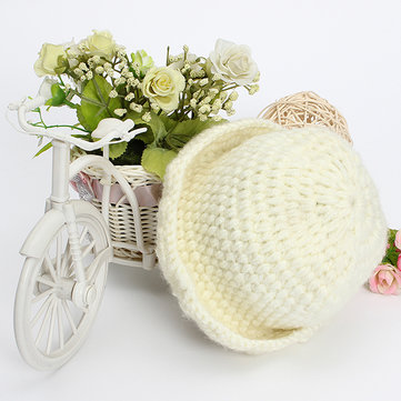 Baby Knit Sweater Crochet Cap Photography Prop Hat