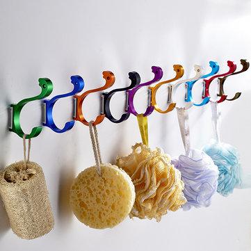 8 цветов набор цветной пространство алюминий лебедь крючок вешалки декоративные