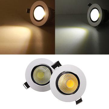 9w dimmable cob LED recesso teto luminária para baixo 110v luz
