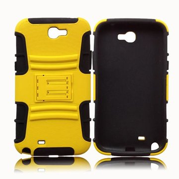 Silicone PC Back Clamp Sliding Sleeve Case For Samsung Galaxy Note 2
