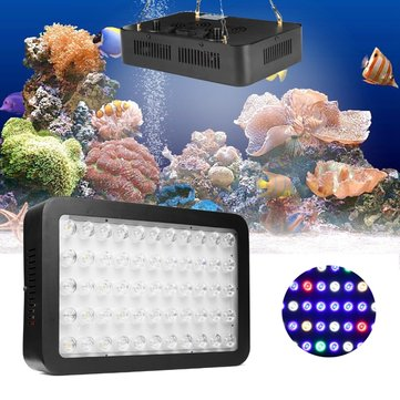 165W 55 LED Dimmable Full Spectrum Aquarium Light Lamp for Reef Fish Coral Tank