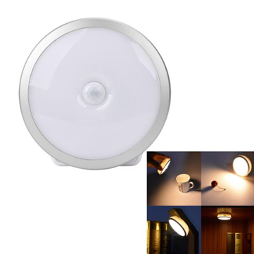 Buy Wireless PIR Motion Sensor Magnetic LED Night Light USB Rechargeable Lamp Cabinet Wardrobe