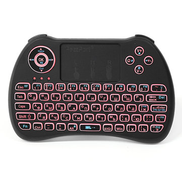 iPazzPort KP-810-21Q 2.4G Wireless Russian Three Color Backlit Mini Keyboatd Touchpad Air Mouse