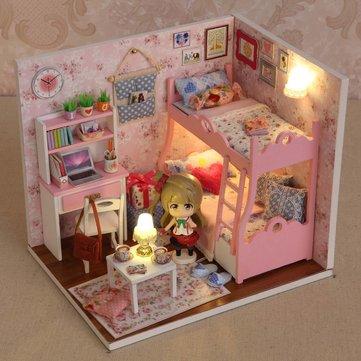 Image of Cuteroom DIY Holzpuppen Mood of Love handgemachte Dekorationen Modell mit Puppe