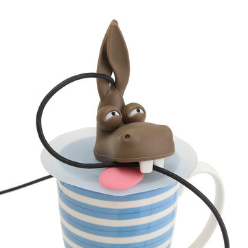 James Donkey Mouse Wire Clip Creative Donkey Head Shape Design Cable Organizer Holder Decoration
