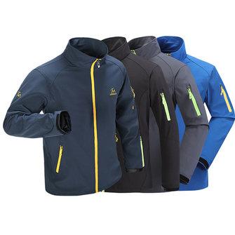 Mens impermeabile stand collare sport esterno di rivestimento traspirante arrampicata cappotto della molla ricamo