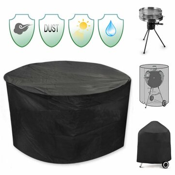 30inch Patio Round Pit Cover Waterdichte UV Protector Grill BBQ Stoel Table Shelter Zwart