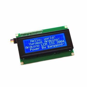 3本Geekcreit®IIC I2C 2004 204 20×4文字LCDディスプレイモジュールブルーArduino用