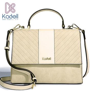 Kadell Scrub Leather Twill Design Clamshell Lady Messenger B