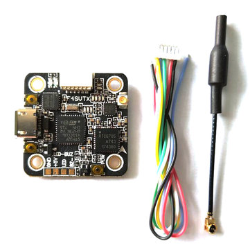 F4_SVTX STM32F411C Flight Controller Integrated 5.8G 48CH 25/100/200mW Switchable VTX OSD 20x20mm