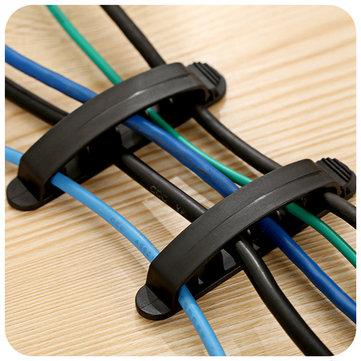 3pcs l'organizzatore di linea di filo di corda di plastica taglia l'organizzatore ordinato di scrivania di proprietario di cavo di caricabatterie di USB di linea