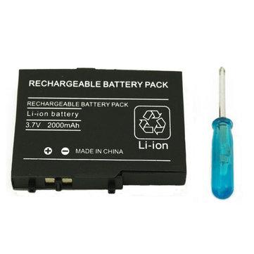 2000mAh bateria recarregável + chave de fenda para NDS Lite Nintendo NDSL li-ion