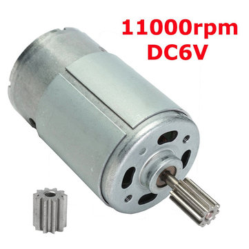 Buy DC6V 11000RPM Gear Motor Micro Electric Motor for $7.99 in Banggood store