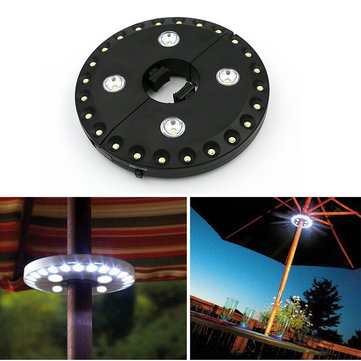IPRee ™ Patio Paraplu Pole Light 28 LED Buiten Tuin Tuin Lawn Camp Tent Hook Nacht Lamp Lantern