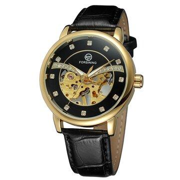 FORSINING H099M Exquise Mode Casual Hommes auto-winding mécanique montre-bracelet