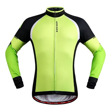 WOSAWE Autumn And Winter Fleece Riding Jersey Keep Warm Long Sleeve Clothes