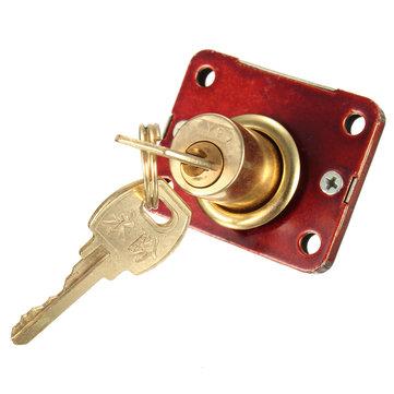 デスク引き出しデッドボルトロック引き出しボックスキャビネット戸棚パネル2つのキー