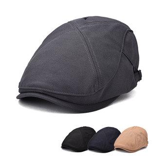 Uniex poliéster retro pico de casquillo boina sombrero delantero visera hebilla de papel niño sombrero para hombres mujeres