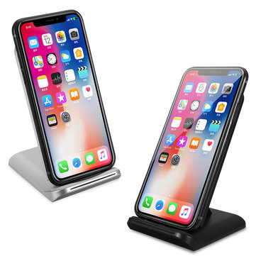 Bakeey Qi Wireless LED Light Fast Charger Desktop Holder For iPhone X 8 8Plus S9+S8 S7