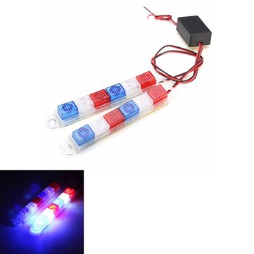 Motorcycle Electric Cars Warning Red&Blue&White LED Flashing Light
