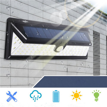 Solar Powered 90 LED Motion Sensor Wall Light Waterproof Wide Angle Ourdoor Garden Security Lamp