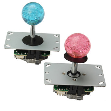 Arcade LED MAME 2 reproductores USB Bundle Kit 2 Joystick para PC 4/8 Way y LED Push Button