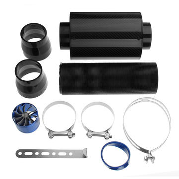 3 Inch 76mm Universal Air Intake Pipe Turbo Direct Cold Air Filter Injection System