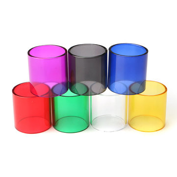 Replacement Colored Transparent Pyrex Glass Tube Cap Tank pour Smok TFV8 7 Couleurs